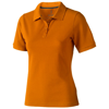 Calgary short sleeve women's polo in orange