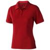 Calgary short sleeve women's polo in red