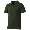 Calgary short sleeve kids polo in army-green