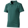 Calgary short sleeve kids polo in forest-green