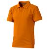 Calgary short sleeve kids polo in orange