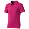 Calgary short sleeve kids polo in pink