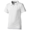 Calgary short sleeve kids polo in white-solid-and-navy