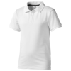 Calgary short sleeve kids polo in white-solid