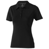 Markham short sleeve women's stretch polo in black-solid