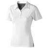Markham short sleeve women's stretch polo in white-solid