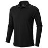Oakville long sleeve men's polo in black-solid