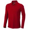 Oakville long sleeve men's polo in red