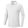 Oakville long sleeve men's polo in white-solid