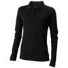 Oakville long sleeve women's polo in black-solid