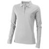 Oakville long sleeve women's polo in grey-melange