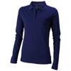 Oakville long sleeve women's polo in navy