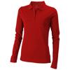 Oakville long sleeve women's polo in red