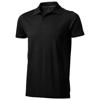 Seller short sleeve men's polo in black-solid