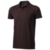 Seller short sleeve men's polo in chocolate-brown