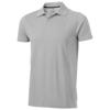 Seller short sleeve men's polo in grey-melange