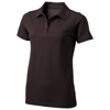 Seller short sleeve women's polo in chocolate-brown