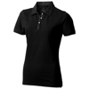 York short sleeve ladies Polo in black-solid