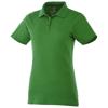 Primus short sleeve women's polo in fern-green