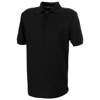 Crandall short sleeve men's polo in black-solid