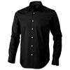 Hamilton long sleeve Shirt in black-solid