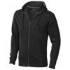 Arora hooded full zip sweater in black-solid
