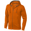 Arora hooded full zip sweater in orange