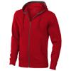 Arora hooded full zip sweater in red