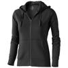 Arora hooded full zip ladies sweater in anthracite
