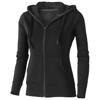 Arora hooded full zip ladies sweater in black-solid