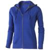 Arora hooded full zip ladies sweater in blue