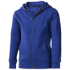 Arora hooded full zip kids sweater in blue
