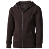 Arora hooded full zip kids sweater in chocolate-brown