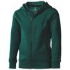 Arora hooded full zip kids sweater in forest-green