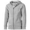 Arora hooded full zip kids sweater in grey-melange