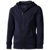 Arora hooded full zip kids sweater in navy