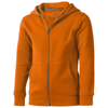 Arora hooded full zip kids sweater in orange