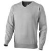 Spruce V-neck pullover in grey-melange