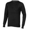 Fernie crewneck pullover in black-solid