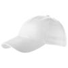 Bryson 6 panel cap in white-solid