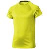 Niagara short sleeve kids cool fit t-shirt in neon-yellow