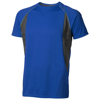 Quebec short sleeve men's cool fit t-shirt in blue-and-anthracite