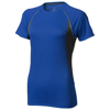 Quebec short sleeve women's cool fit t-shirt in blue-and-anthracite