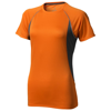 Quebec short sleeve women's cool fit t-shirt in orange-and-anthracite