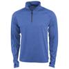 Taza knit quarter zip in heather-blue