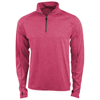 Taza knit quarter zip in heather-red