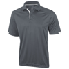 Kiso short sleeve men's cool fit polo in steel-grey