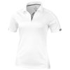 Kiso short sleeve women's cool fit polo in white-solid