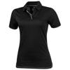 Prescott short sleeve ladies Polo in black-solid