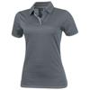 Prescott short sleeve ladies Polo in steel-grey